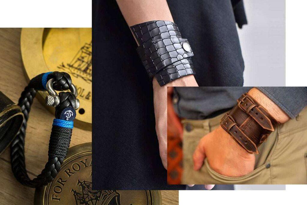 В тренде: Кожаные браслеты