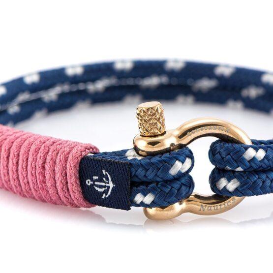 Тонкий браслет с розовыми нитями для женщин — № 0801