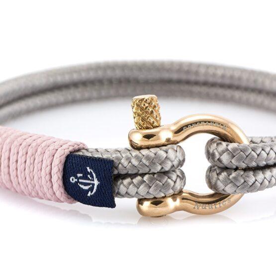 Серебристый тонкий браслет с синим акцентом — № 891 (Копировать)