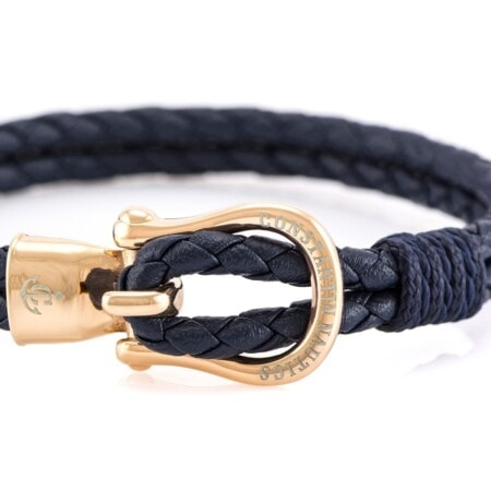 Кожаный браслет бордового цвета с золотистым крючком — № 10089 (Копировать)