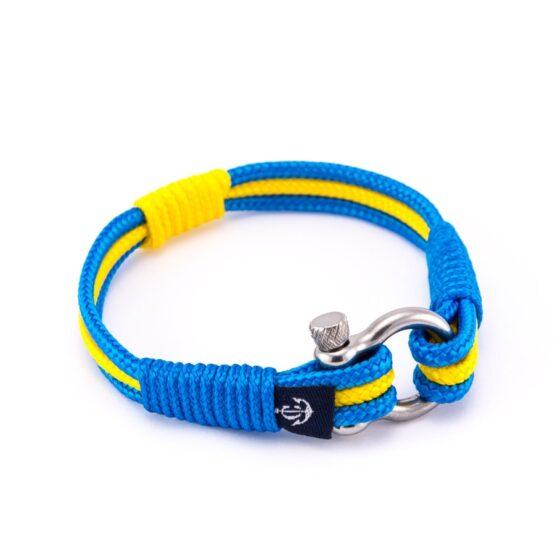 Морской браслет жёлтого-синего цвета — № 7545