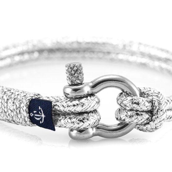 Серебристый тонкий браслет для женщин и мужчин — № 897