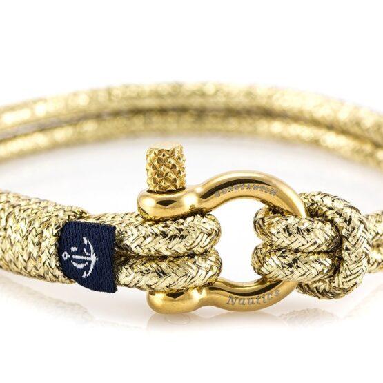 Жёлто-синий тонкий браслет с белой нитью для женщин — № 889 (Копировать)