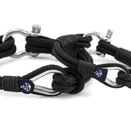 Парные браслеты чёрного цвета — № 960