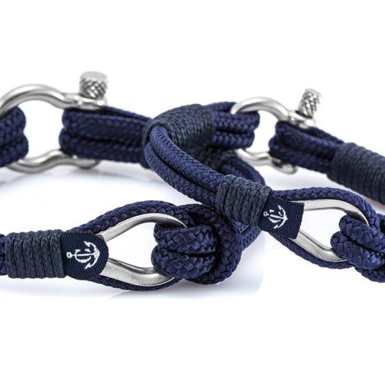 Парные браслеты синего цвета — № 962