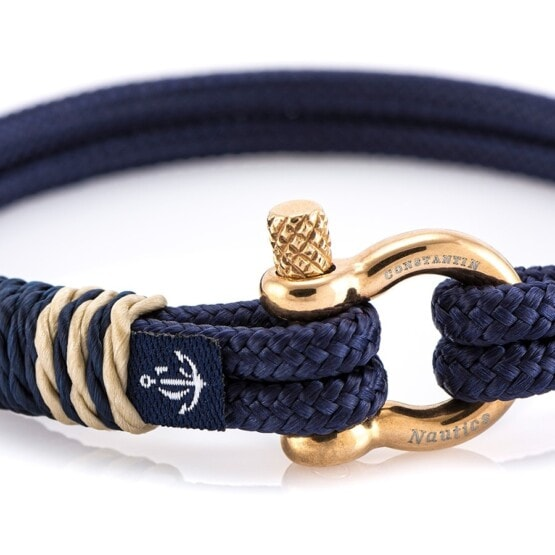 Тонкий браслет чёрного цвета с узлом— № 0808
