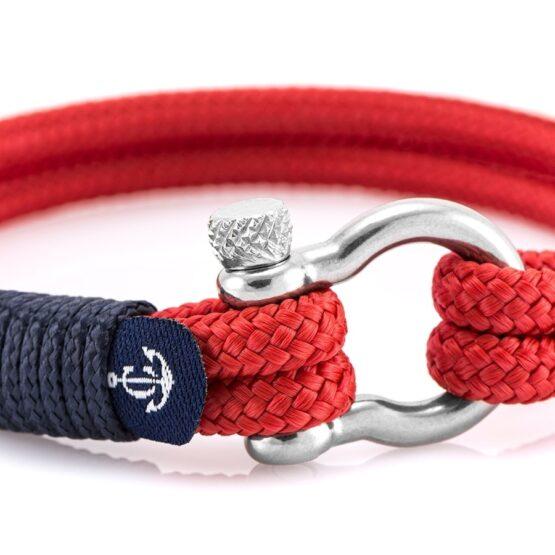 Чёрный браслет с красным акцентом для мужчин и женщин — № 5129 (Копировать)