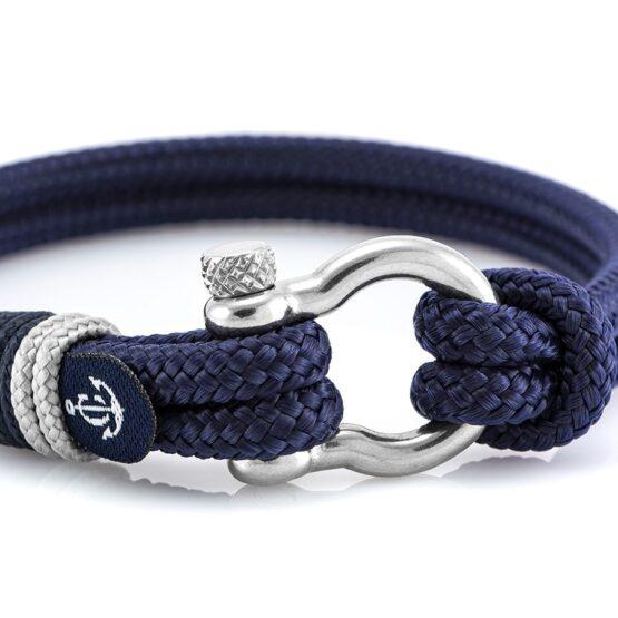 Коричневый браслет с кремовыми нитями и узлом — № 5126 (Копировать)