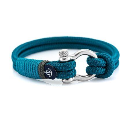 Бирюзовый браслет с узлом для женщин и мужчин — № 5130