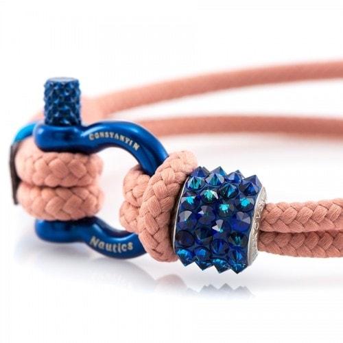 Женский браслет бежевого цвета с зелёным камнем Swarovski — № 7174 (Копировать)