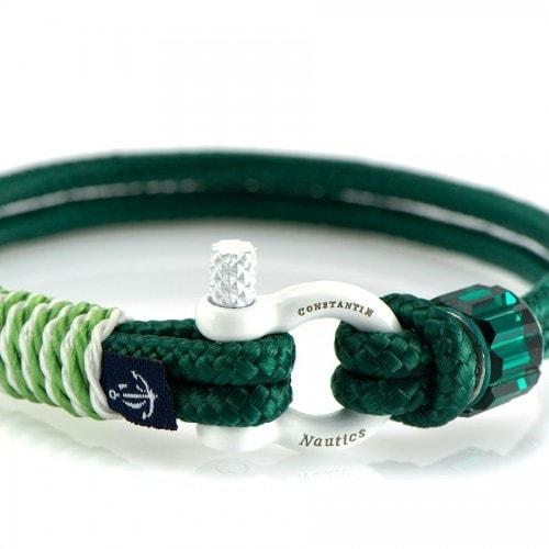 Зеленый браслет сваровски с зеленым акцентом — № 7277