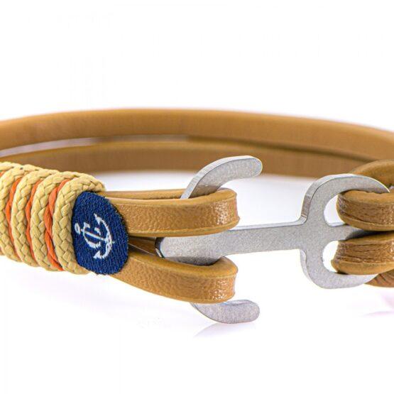 Коричневый кожаный браслет с якорем для мужчин и женщин — Jack Tar 10104 (Копировать)