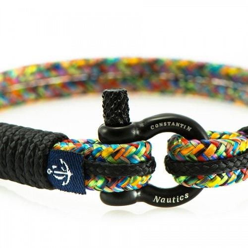 Цветной браслет с чёрными нитями для мужчин и женщин — № 5150 (Копировать)