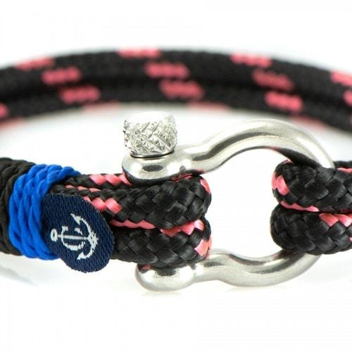 Бордовый браслет с красным акцентом для мужчин и женщин — № 5146