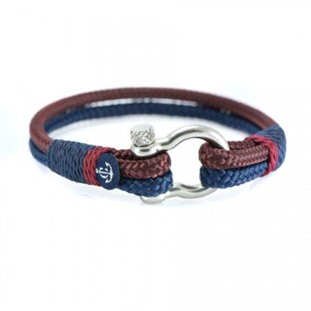 Браслет для мужчин и женщин бордово-синего цвета — № 5147
