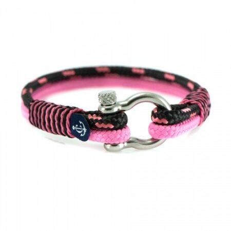 Браслет для женщин в чёрно-розовом цвете — № 5148