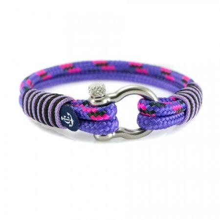 Браслет для женщин в фиолетовом цвете с розовым акцентом — № 5149
