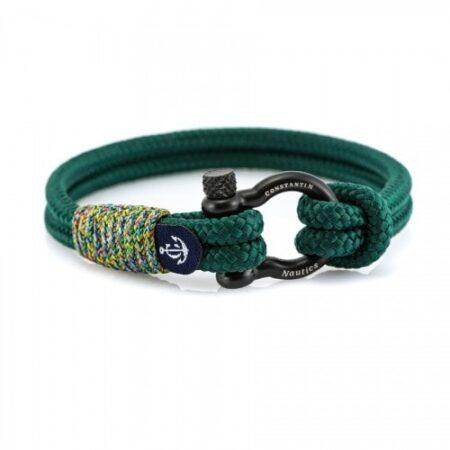 Зелёный браслет для мужчин и женщин — № 5155